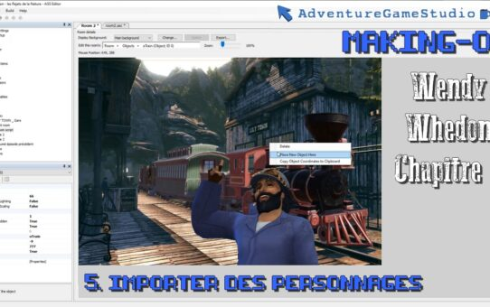 Making-of AGS, partie 5 : Importer des Personnages