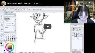 Vidéo de la séance dessin en direct numéro 1 !