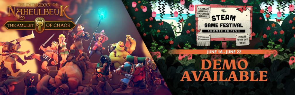 Le jeu vidéo du Donjon de Naheulbeuk – L'Amulette du Chaos – Démo Disponible sur Steam !