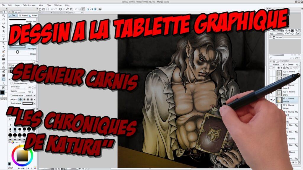 Dessin à la tablette graphique : le Seigneur Carnis