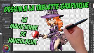 Vidéo making-of : illustration de la Magicienne